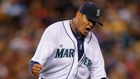 Felix throws 8 scoreless as M's blank Angels