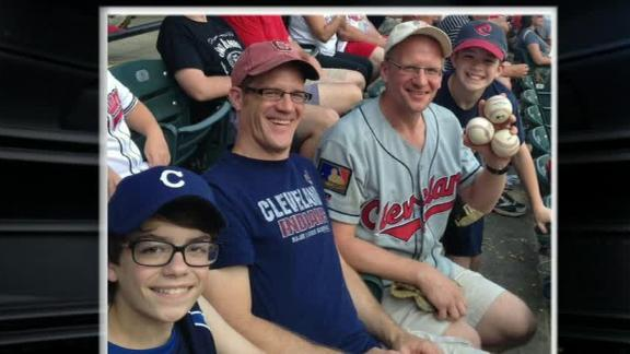 Ball four: Indians fan scoops up 4 foul balls