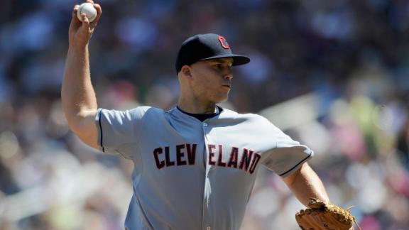 Masterson flirts with no-no; Indians nix sweep