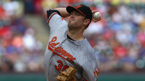 Tillman, O's finish sweep of sliding Rangers