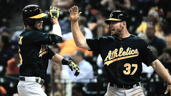 Video - A's Come Back To Beat Astros