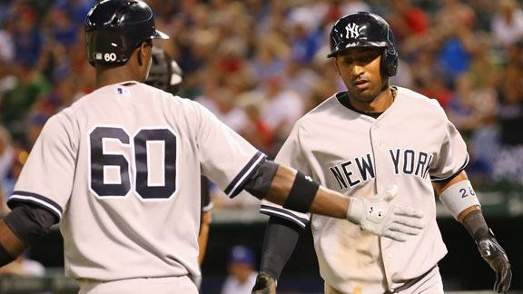 Yanks rally off Nathan in 9th, edge Rangers