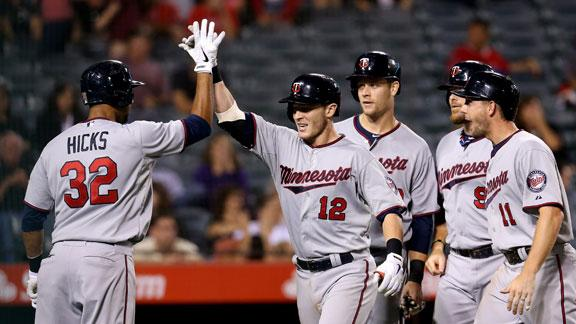 7-run 10th inning sends Twins past Angels