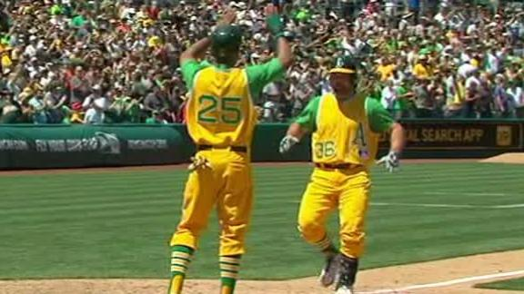 Norris' pinch-hit HR helps A's get by Angels