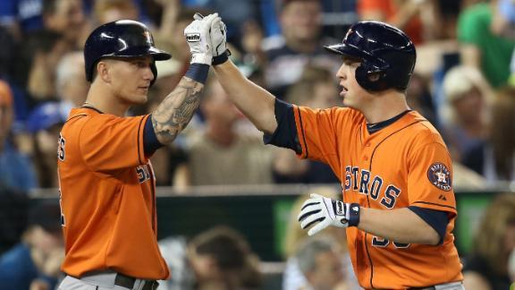 Astros blast past Jays to snap skid at three