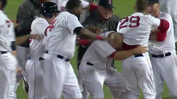 Video - Red Sox Walk Off With Win