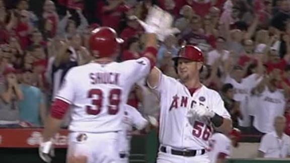 Video - Calhoun's First Career HR Powers Angels