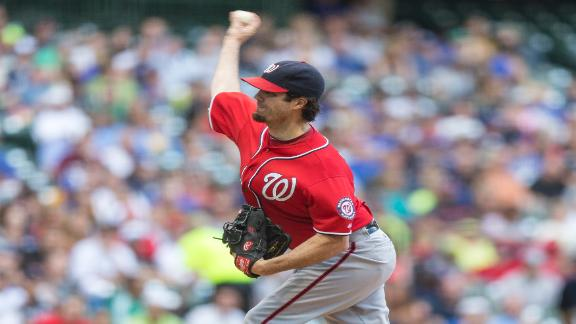 Haren, Nationals shut out slumping Brewers