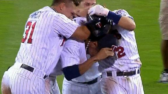 Video - The Twins Win In Extra Innings