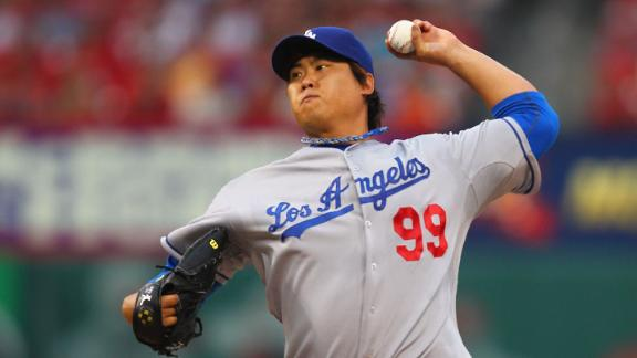 Ryu goes 7 strong innings to boost Dodgers