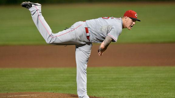 Latos helps Reds to shutout of Wood, Cubs