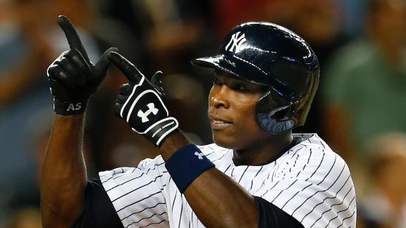 Soriano drives in 7 in Yanks' win vs. Angels