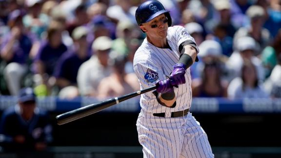 Video - Tulowitzki, Rockies Double Up Padres