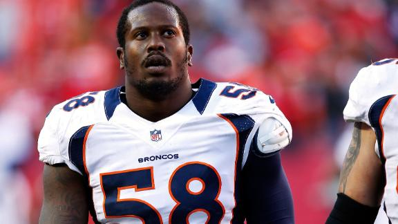 Broncos' Miller to play against Seahawks