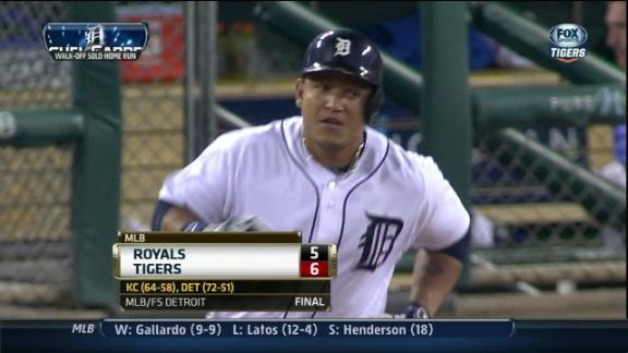 Cabrera's walk-off HR lifts Tigers by Royals