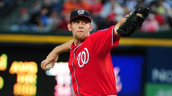Strasburg ejected in 2nd; Nats prevail in 15