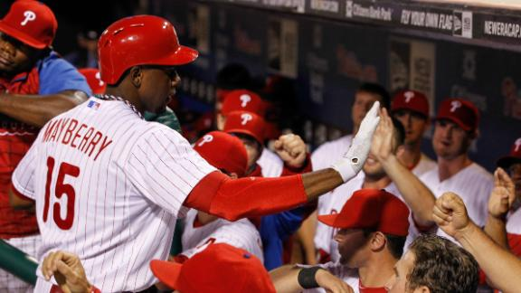 Phillies use long ball to slide past Rockies