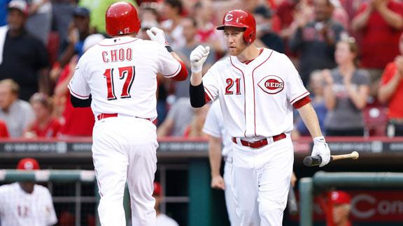 Choo homers, helps Reds get past D-backs