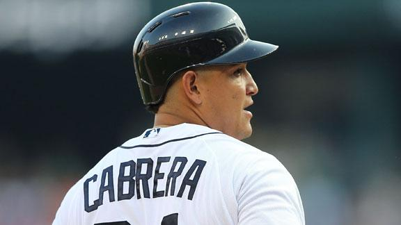 Cabrera starts for Tigers, drives in 3 in win