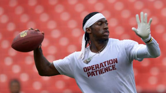 RG III jokes about apparel fine at luncheon