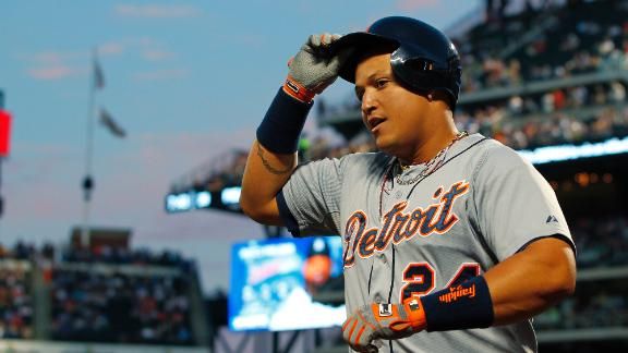 Cabrera, Tigers rudely welcome Dice-K back
