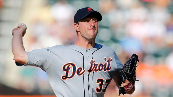 Tigers' Scherzer gets MLB-best win No. 19