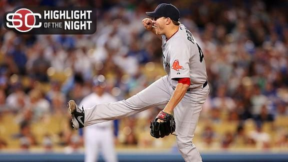 Video - Peavy, Red Sox Shut Down Dodgers