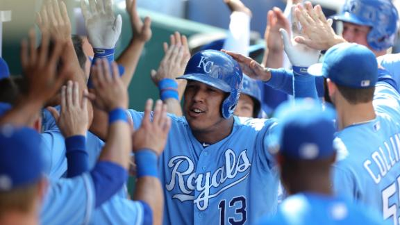 Royals rout Rays in makeup of May snow-out