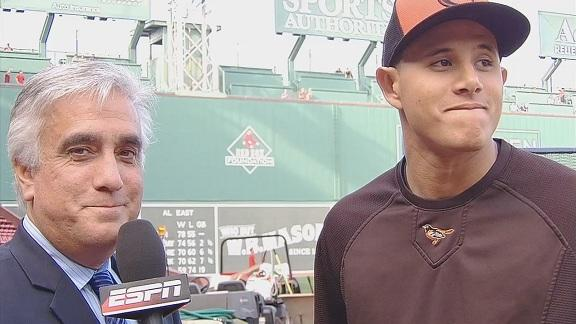 Video - Manny Machado Spoke With Pedro Gomez Before The Game