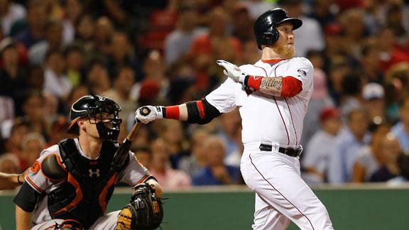 Carp's pinch-hit single lifts Red Sox by O's