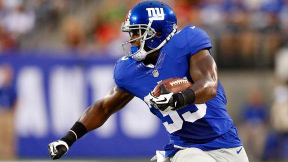 Source: Giants RB Brown to miss 4-6 weeks
