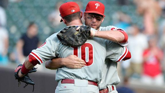 Young has 4 hits as Phillies rally past Cubs