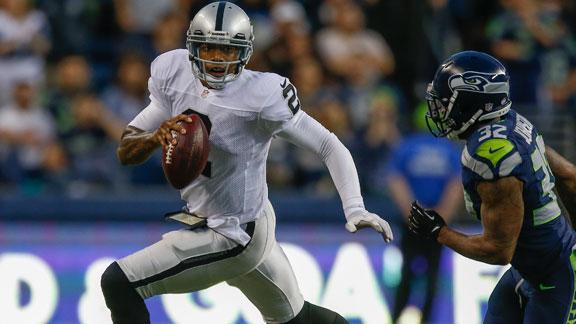 Raiders' Pryor: Just 31 passing yards in loss