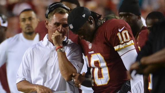 RG III cleared to play but status still unclear