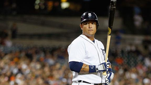 Cabrera out of lineup for 3rd straight game