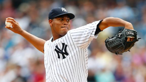 Yanks' Nova gets 1st career shutout vs. O's