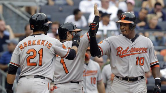 Hardy, Jones help O's avert sweep by Yanks