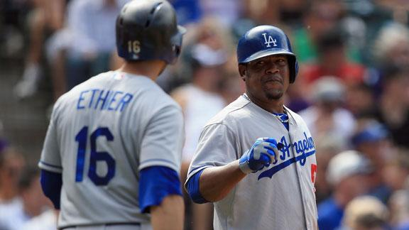 Dodgers' Puig leaves game with knee strain