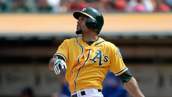 A's drop Rangers, pull into tie atop AL West
