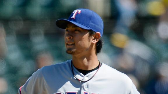 A's wallop Darvish, Rangers to knot up West