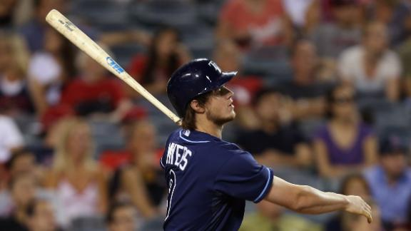 Rays' Myers hits 2 HRs off Weaver in win