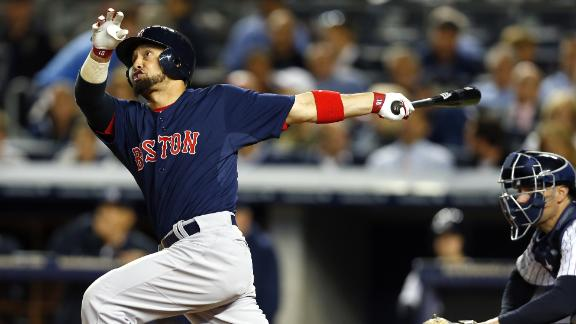 Red Sox storm by Yanks behind Napoli's slam