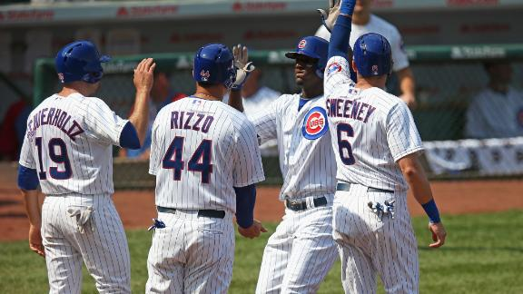 Lake has grand slam as Cubs edge Brewers