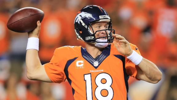 Peyton Manning ties NFL record with seven TD passes as Broncos …