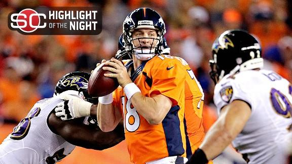 Video - Manning Throws 7 TDs In Broncos Rout