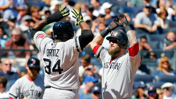 Napoli's 2 HRs help Red Sox bash Yankees