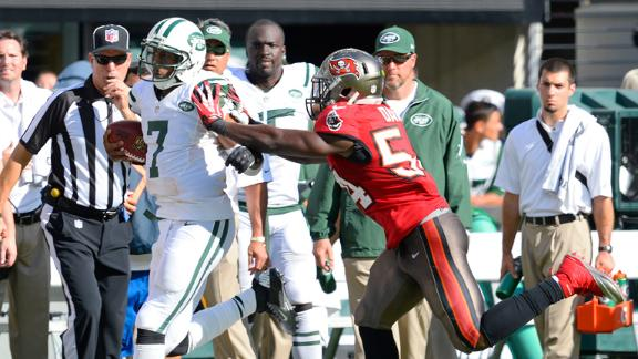 Bucs LB David fined for hit on Jets' Smith