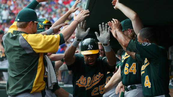 A's stretch lead to 6 1/2 with sweep of Rangers