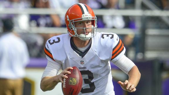 Browns QB Weeden (thumb) may miss time