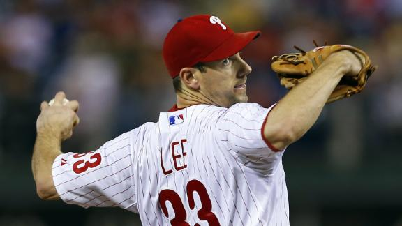 Lee has 14 K's, 4 RBIs as Phils maul Marlins